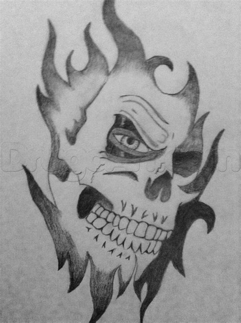 Pics For Gt Cool Skull Drawings In Pencil Drawing Pic