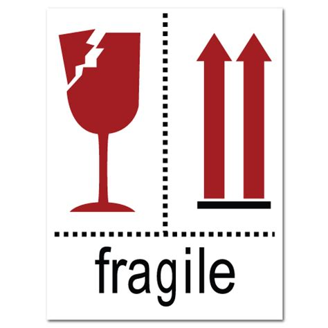 printable glass stickers fragile broken glass and arrow stickers