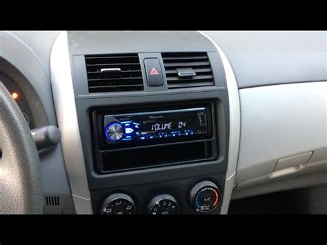 2009 2013 toyota corolla stereo install pioneer mvh