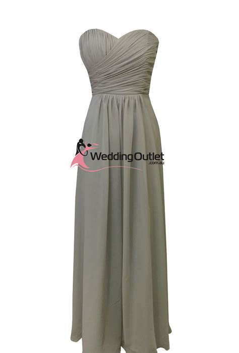 Dress Ab grey strapless bridesmaid dress style ab101