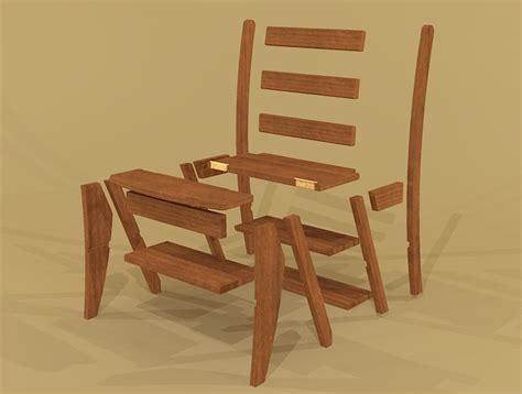 Ben Franklin Chair Step Stool by Creekside Woodshop Sketchup Drawings