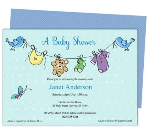 baby shower card template microsoft word 309 best images about invitation sle on