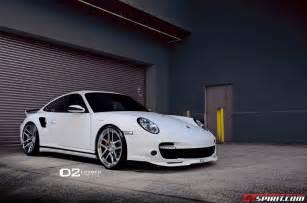 White Porsche 997 White Porsche 997 Turbo Lowered On D2forged Wheels Gtspirit