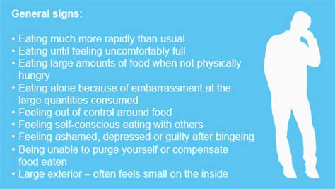 signs of comfort eating binge eating disorder men get eating disorders too