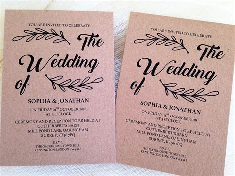 wedding invitations   daisy chain invites