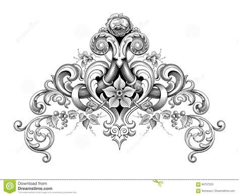 vector vintage baroque frame corner ornate cartoon vector