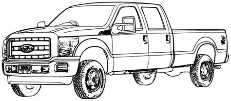 F150 Coloring Page by Ford Truck Coloring Pages Coloriages Coloring