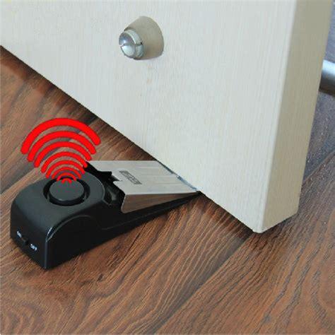 120 db home wedge shaped door stopper alarm with siren