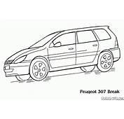 Malvorlagen  Peugeot 307