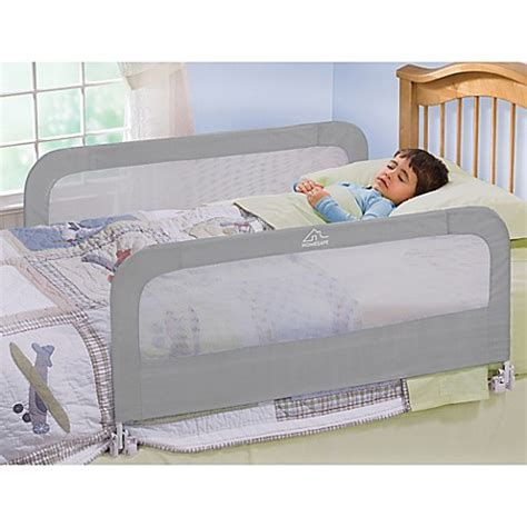 double toddler bed homesafe by summer infant 174 silver night double bedrail