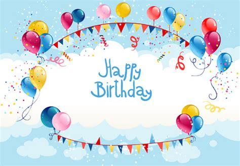 balloon birthday card template colored balloon summer birthday cards vector free vector