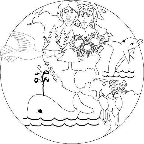 creation coloring pages preschool free christian graphics of creation bible stories for