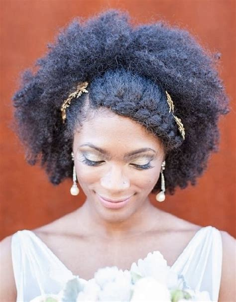 Bridal Hairstyles Afro Hair by Medium Length Wedding Hairstyles For Curly Hair
