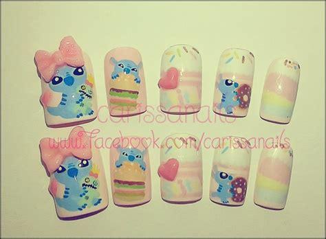 tutorial nail art stitch cute stitch nail art gallery