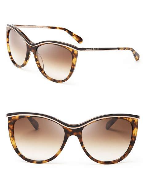 Kate Spade Sunnies 1 kate spade new york harmony cat eye sunglasses in brown lyst