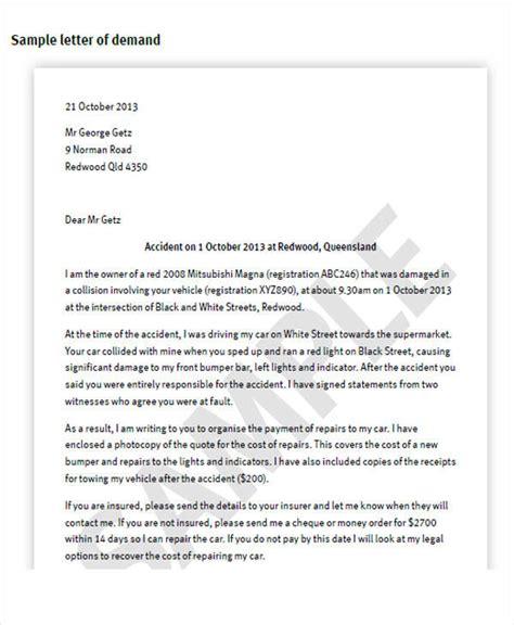 37 Demand Letter Sles Sle Templates Auto Demand Letter Template