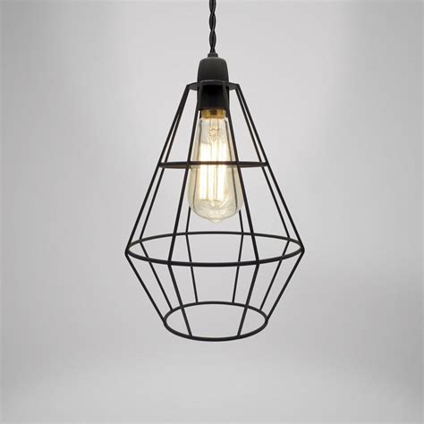 wire cage pendant light modern industrial black white copper cage wire