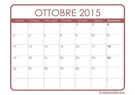Calendario Ottobre Calendario Ottobre Calendari