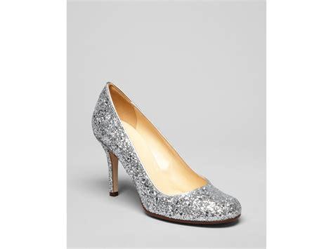 high heel glitter pumps kate spade glitter pumps karolina high heel in silver