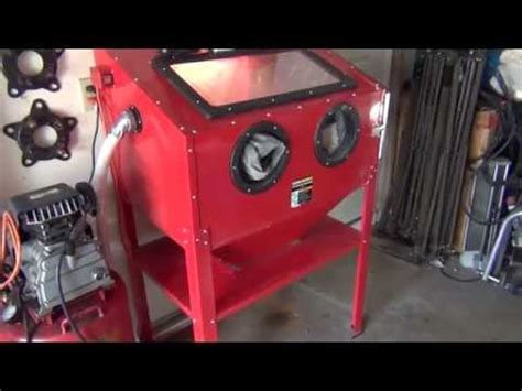 harbor freight bead blaster sand blaster booth how to save money and do it