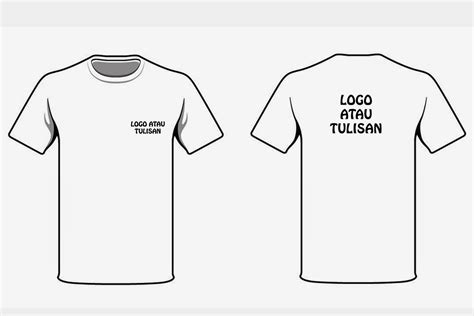 desain baju kaos polos putih theme t shirt design from coreldraw joy studio design