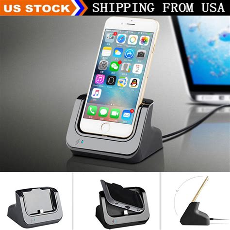 desktop dock stand station charger cradle charging for iphone 7 plus 5 5s 6 6s ebay