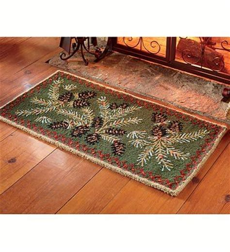 Hearth Rugs Fireproof by Resistant Hooked Wool Pine Cone Hearth Rug Http