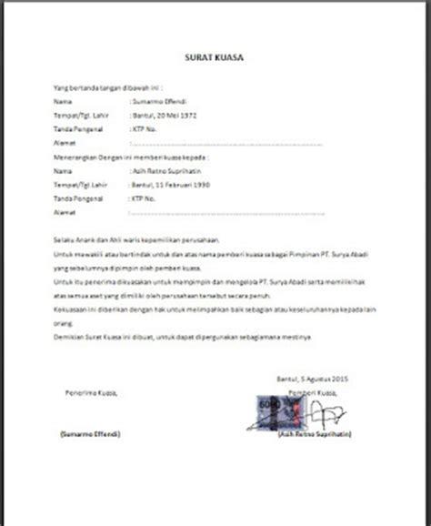 contoh surat kuasa untuk pengacara perceraian 28 images mengajukan