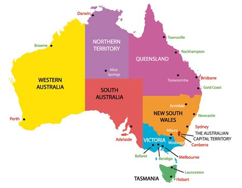 9 Obscure Capital Cities by Map Of Australia With States And Capital Cities 14 Maps