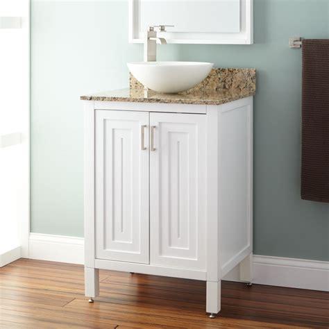 White Vanity Sink by 24 Quot Broden White Vessel Sink Vanity Bathroom