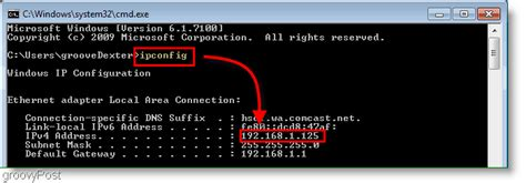 Local Ip Address Lookup How To Find Your Local Ip Address In Windows 7 Or Vista