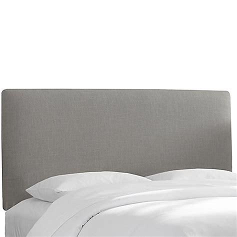 grey linen upholstered headboard buy skyline furniture upholstered full headboard in linen