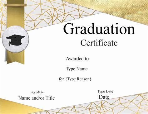 Graduation Certificate Template Customize Online Print Downloadable Graduation Templates