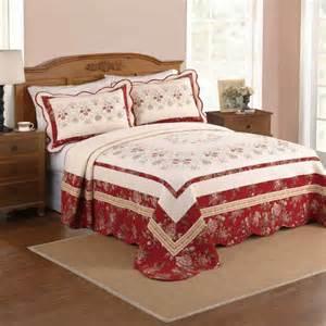 better homes and gardens saphron bedspread burgundy ivory