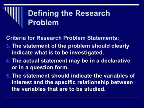 problem statement for thesis research problem statement