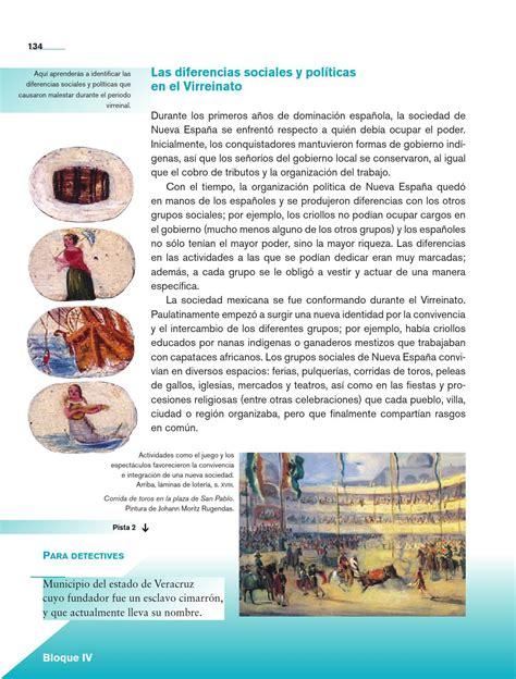 libro de historia 4 grado la sociedad virreinal historia 4o grado by rar 225 muri page 136 issuu