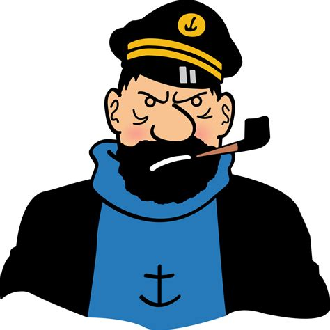 what is captain with captain haddock in a bad mood by ironsid0r on deviantart