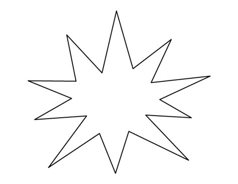 Printable Starburst | starburst pattern use the printable outline for crafts