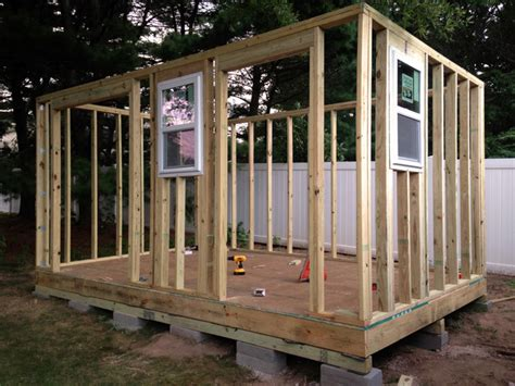 build  diy storage shed  scratch step