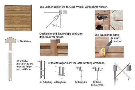 Anbauwand Selber Bauen by Sichtschutzzaun 180 Holz Braun