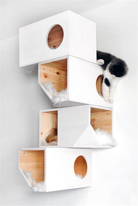 stylish cat tree catissa cat tree doubles as stylish wall art 6sqft