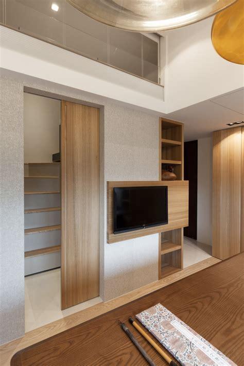 stairway door taipei home showcases asian minimalist influences