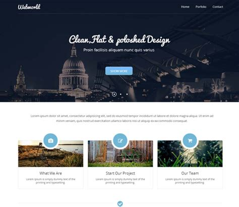 20 Free Responsive And Mobile Website Templates Bittbox Free Project Website Templates