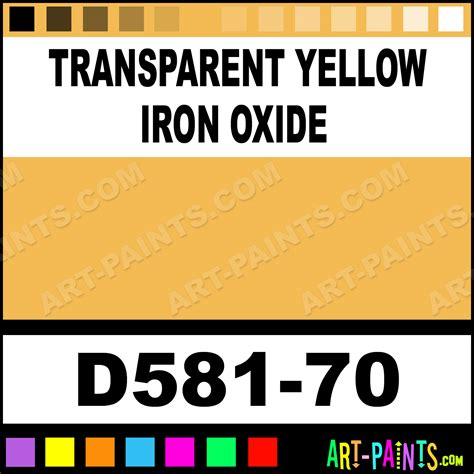 transparent yellow iron oxide artists acrylic paints d581 70 transparent yellow iron oxide