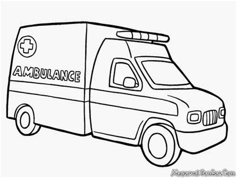 mewarnai mobil ambulan mewarnai gambar mobil