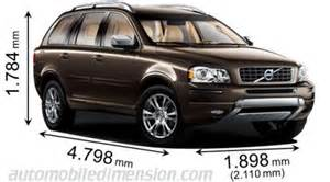 Volvo Xc90 Measurements Dimensions Of Volvo Cars Showing Length Width And Height