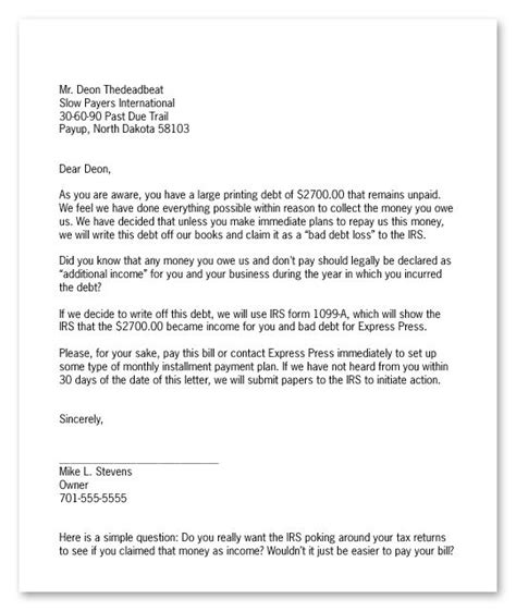 template for debt collection letter 10 best collection letters images on