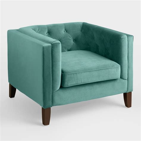 teal velvet armchair teal velvet kendall chair world market