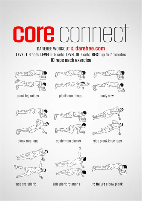 Workouts At Your Desk Core Connect Workout