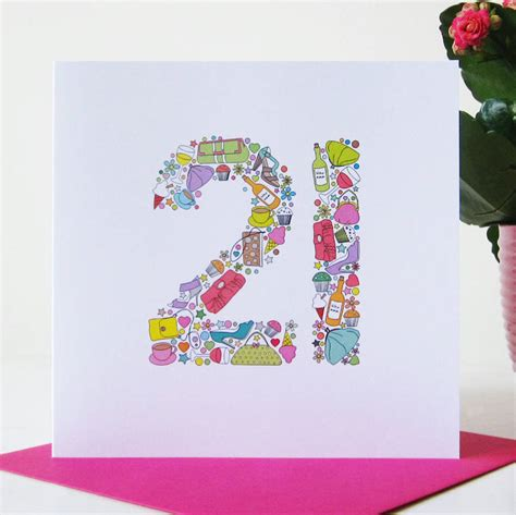 21st Birthday Card Girlie Things 21st Birthday Card By Mrs L Cards